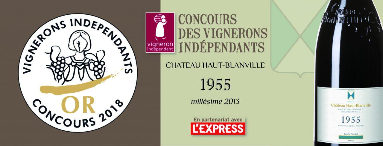 Concours Vignerons Indépendants: 1955 médaillé d'Or!