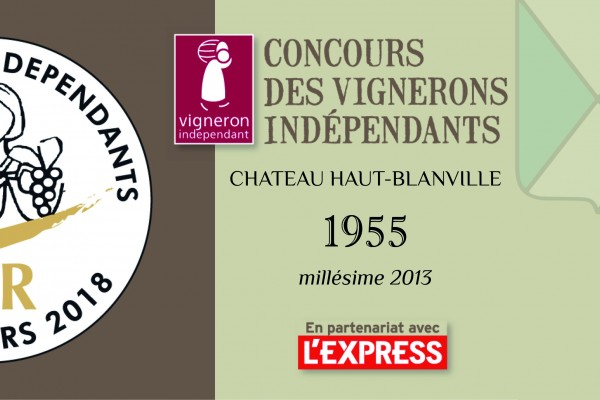 Concours Vignerons Indépendants : 1955 médaillé d'Or !