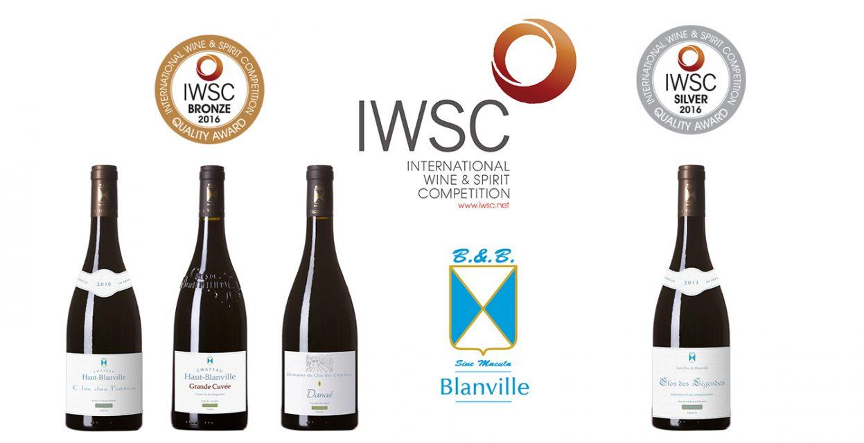 Résultats IWSC 2016: 4 médaillés parmis nos vins!