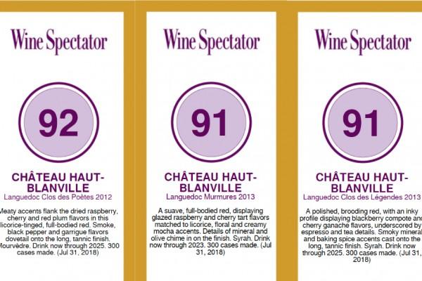 Wine Spectator, Jancis Robinson & Pays d'Oc