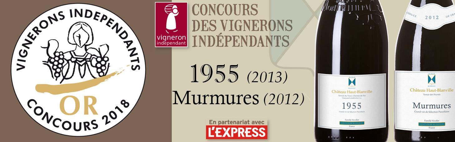 Concours Vignerons Indépendants 2018 - Awards